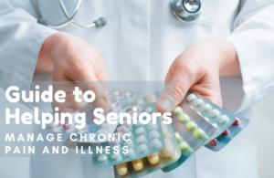Senior taking medication