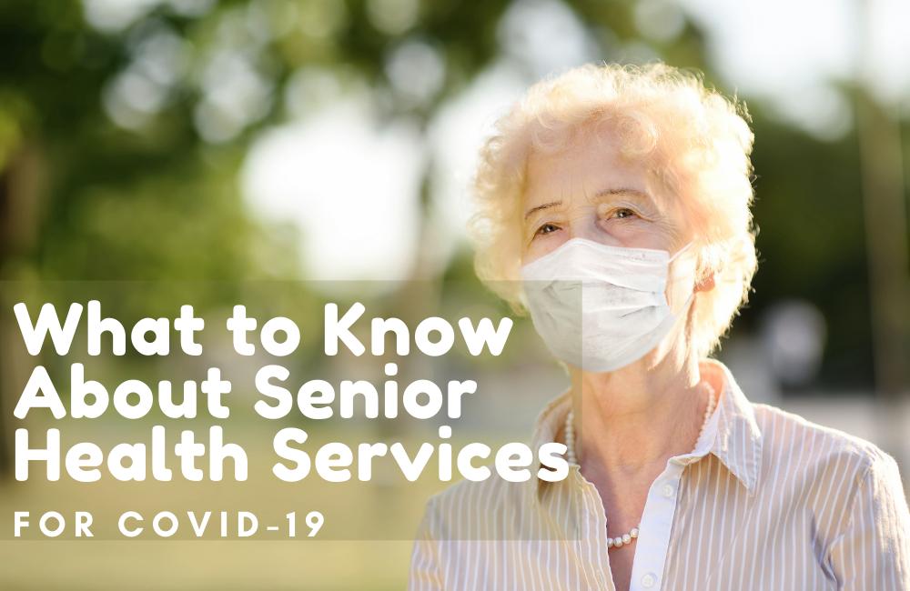 elderly lady with mask